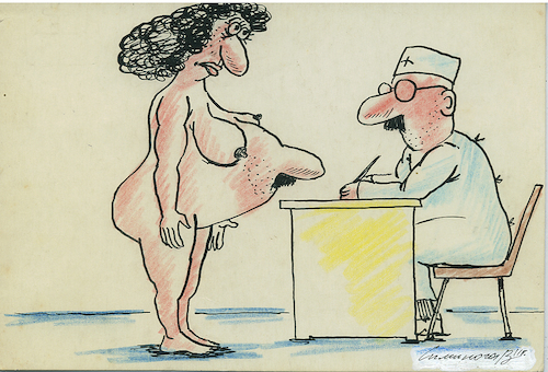 Cartoon: pregnancy (medium) by vadim siminoga tagged pregnancy