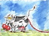 Cartoon: sausages (small) by vadim siminoga tagged production,cow,sausages,grass,milk