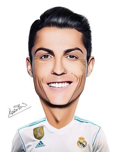 Cristiano Ronaldo By Ahmed Mostafa Famous People Cartoon Toonpool
