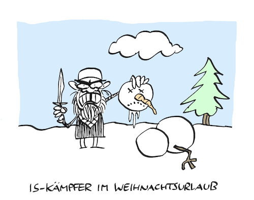 Cartoon: Djihatschi (medium) by Bregenwurst tagged is,islamischer,staat,terror,islamismus,enthauptung,schneemann