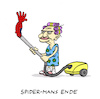 Cartoon: Spinnerei (small) by Bregenwurst tagged spiderman,spinne,superheld,staubsauger,exitus