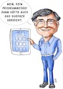 Cartoon: Bill Gates (small) by Thomas Vetter tagged karikatur