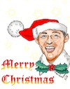 Cartoon: Bing Crosby - White Christmas (small) by Thomas Vetter tagged zeichnung