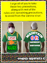 Cartoon: Covid Precautions onT Shirt. (small) by APPARAO ANUPOJU tagged covid,precautions