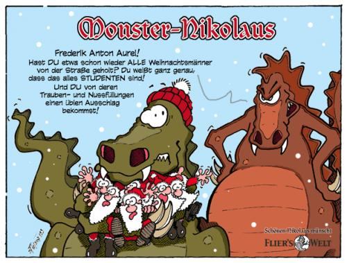 Cartoon: Monster Nikolaus (medium) by FliersWelt tagged monster,nikolaus,santa,clause
