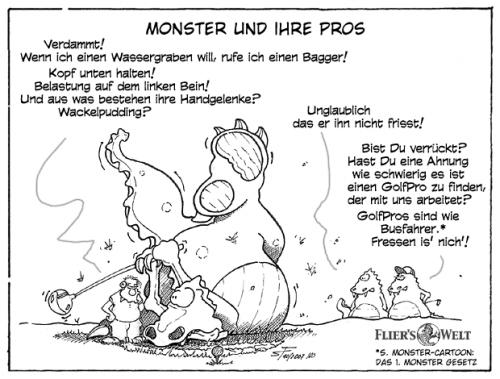 Cartoon: Monster und ihre Pros. (medium) by FliersWelt tagged monster,golf,pro