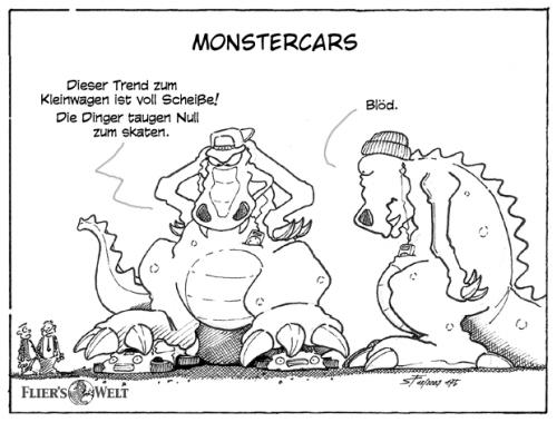 Cartoon: Monstercars (medium) by FliersWelt tagged monster,kleinwagen,smart