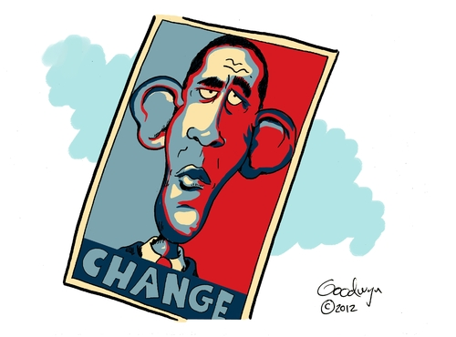 Cartoon: Hope for Change (medium) by Goodwyn tagged president,obama,election,hope,change