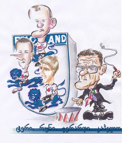 England Football By Bebetokaspi Sports Cartoon Toonpool