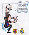 Cartoon: barca-real 5-0 (small) by bebetokaspi tagged messi guardiola