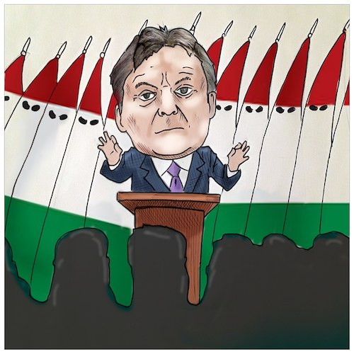 Cartoon: Europe of Orban (medium) by Christi tagged orban,ungheria