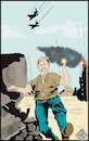 Cartoon: Guerra totale (small) by Christi tagged israele,gaza,palestina,hamas,guerra,war