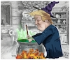 Cartoon: POTION TO disappear (small) by Christi tagged usa,trump,covid,potion,infezione,pandemia
