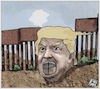 Cartoon: Trump currency closing Mexico (small) by Christi tagged trump,mexico,migrazione