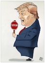 Cartoon: Trump shutdown (small) by Christi tagged trump,shutdown