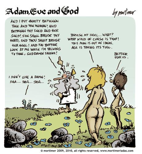 Adam et Eve Cartoon porn