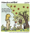 Cartoon: adam eve and god 15 (small) by mortimer tagged mortimer,mortimeriadas,cartoon,comic,gag,adam,eve,god,bible,paradise,eden,biblical,christian,original,sin,sex,nude,toons,hairy,belly,blonde