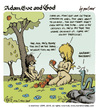 Cartoon: adam eve and god 16 (small) by mortimer tagged mortimer,mortimeriadas,cartoon,comic,gag,adam,eve,god,bible,paradise,eden,biblical,christian,original,sin,sex,nude,toons,hairy,belly,blonde,snake,apple