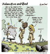 Cartoon: adam eve and god 28 (small) by mortimer tagged mortimer,mortimeriadas,cartoon,comic,gag,adam,eve,god,bible,paradise,eden,biblical,christian,original,sin,sex,nude,toons,hairy,belly,blonde