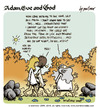 Cartoon: adam eve and god 30 (small) by mortimer tagged mortimer,mortimeriadas,cartoon,comic,gag,adam,eve,god,bible,paradise,eden,biblical,christian,original,sin,sex,nude,toons,hairy,belly,blonde
