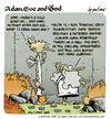 Cartoon: adam eve and god 36 (small) by mortimer tagged english,adam,eve,god,cartoon,comic,gag,mortimer,mortimeriadas,biblical,christian,original,sin,expulsion,paradise,eden,snake