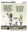 Cartoon: adam eve and god 37 (small) by mortimer tagged english,adam,eve,god,cartoon,comic,gag,mortimer,mortimeriadas,biblical,christian,original,sin,expulsion,paradise,eden,snake