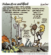 Cartoon: Adam Eve and God 42 (small) by mortimer tagged mortimer,mortimeriadas,cartoon,comic,biblical,adam,eve,god,snake,paradise,bible