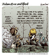 Cartoon: Adam Eve and God 47 (small) by mortimer tagged mortimer,mortimeriadas,cartoon,comic,biblical,adam,eve,god,snake,paradise,bible