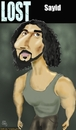 Cartoon: lost-sayid (small) by komikportre tagged lost,sayid,tv