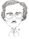 Cartoon: Edgar Allan Poe (small) by perevilaro tagged edgar allan poe