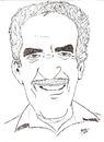 Cartoon: Gabriel garcia Marquez (small) by perevilaro tagged gabriel garcia marquez