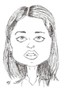 Cartoon: Robin Tunney - Theresa Lisbon (small) by perevilaro tagged robin tunney theresa lisbon mentalist