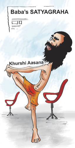 Baba Ramdev By Ashokadepal Politics Cartoon Toonpool