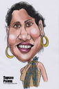 Cartoon: Tapsee pannu (small) by sugumarje tagged tapsee,pannu,caricature,sugumarje