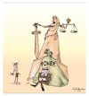 Cartoon: law and power. (small) by Sajith Bandara tagged sajith,bandara,cartoons