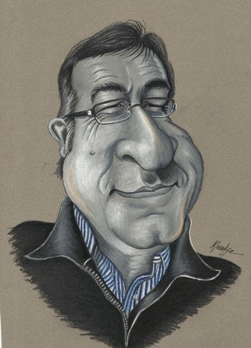 Cartoon: Coskun Göle (medium) by menekse cam tagged coskun,gole,cartoonist,turkish,portrait,caricature,menekse