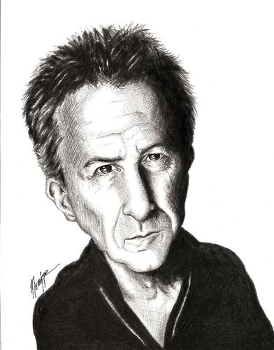 Cartoon: Dusti (medium) by menekse cam tagged dustin,hoffman,usa,american,actor,oscar,rain,man