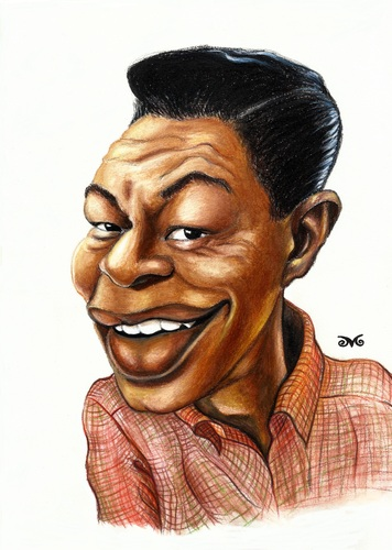 Cartoon: Nat King Cole (medium) by menekse cam tagged nathaniel,adams,coles,jazz,pop,great,love,songs,usa,american,singer,nat,king,cole,unforgettable,monalisa,the,girl,from,ipanema,quizas,rambling,rose,to,young,when,fall,in