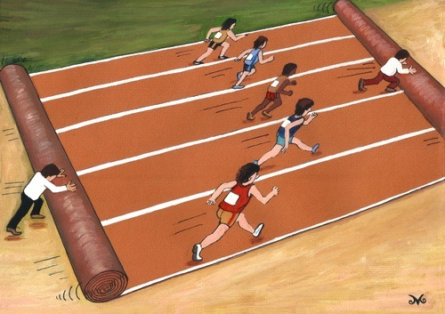 Cartoon: Olympic Games (medium) by menekse cam tagged olympic,games,sports,running,athlete,financial,status