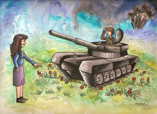 рисунок про танкистов всех