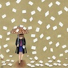 Cartoon: A mailing day (small) by menekse cam tagged tradition,mail,email,mailing,umbrella,girl,mobile,phone,online