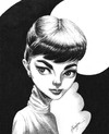 Cartoon: Audrey Hepburn (small) by menekse cam tagged audrey,hepburn,actress,english,holland,british,dutch,cinema,movie,oscar,belgium,belgian,sympathetic,innocent,beautiful,beauty