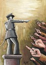 Cartoon: Awakening (small) by menekse cam tagged awakening politic military power war peace public rebellion