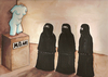 Cartoon: no title (small) by menekse cam tagged museum women woman sculpture mö bc islam islamic religion cover