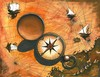 Cartoon: Peace (small) by menekse cam tagged peace,dream,world,compass