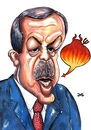 Cartoon: RTE (small) by menekse cam tagged recep,tayyip,erdogan,prime,minister,turkey,devil,speech,acts,political,politicians