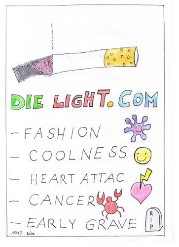 Cartoon: RE BRAND cigarettes cigar smoke (medium) by skätch-up tagged account,sickness,death,cancer,cigarettes,smoke,network,market,new,brand,re