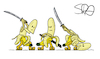 Cartoon: Samurai-Banane (small) by Sven Raschke tagged obst,banane,kampfsport,samurai,japan,katana