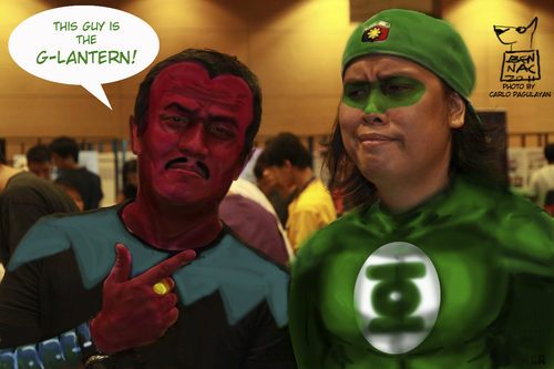 Cartoon: Green Lantern digital costume (medium) by bennaccartoons tagged green,lantern