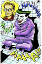 Cartoon: Joker with Bruce Timm in color (small) by bennaccartoons tagged bruce timm joker batman